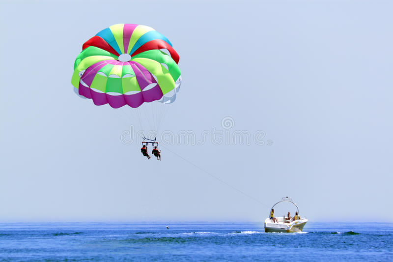 каникула parasailing стоковые изображения