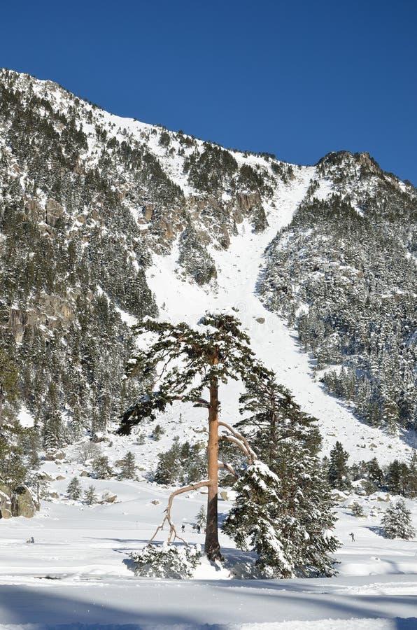 Каникулы зимы в долине Marcadau стоковые фотографии rf
