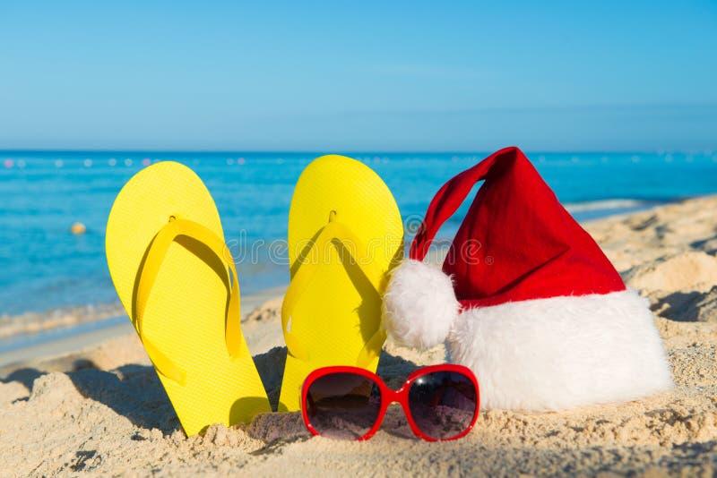 Каникулы рождества на море Счастливые праздники Нового Года стоковые фото