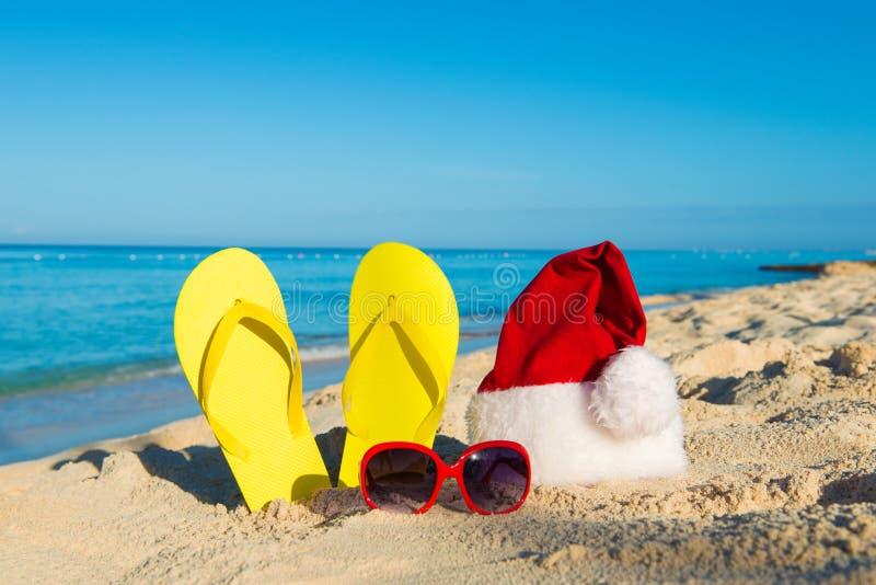 Каникулы рождества на море Счастливые праздники Нового Года стоковые фотографии rf