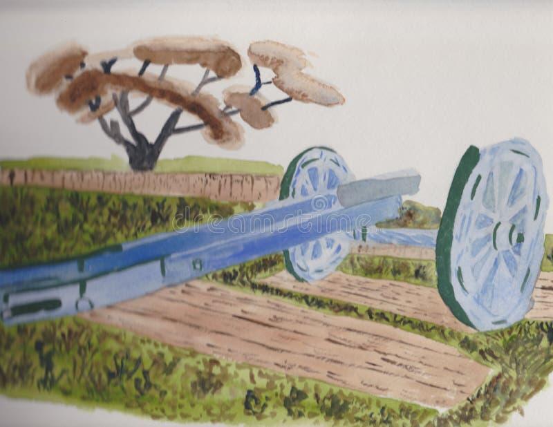 Канон в поле бесплатная иллюстрация