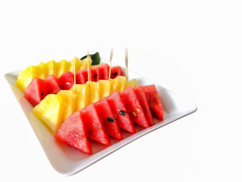 Канталупа, экспорт, плод, ананас, плита стоковая фотография rf