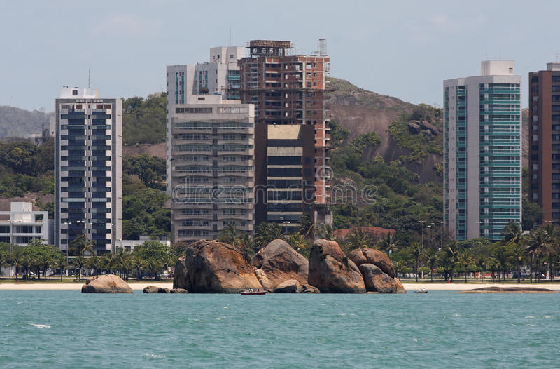 кантон делает vitoria praia стоковые фотографии rf