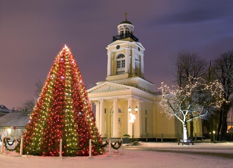 канун церков рождества около нового года вала стоковое фото rf