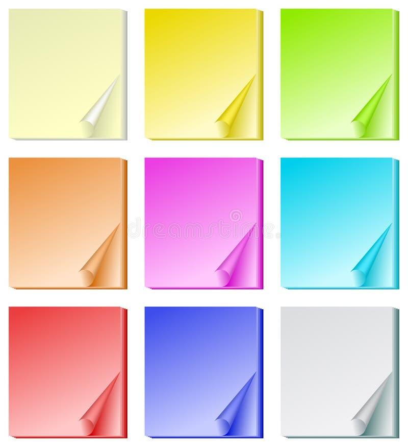 канцелярские принадлежности цвета бумажные бесплатная иллюстрация