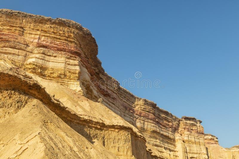 Каньоны в пустыне Namibe вышесказанного anisette С метками размывания стоковое изображение