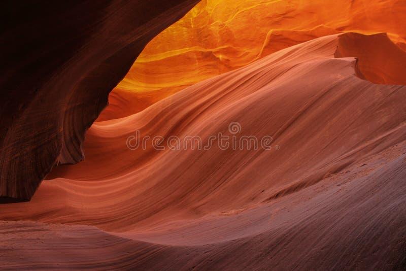 Каньон антилопы с песчаником отражательным стоковое фото