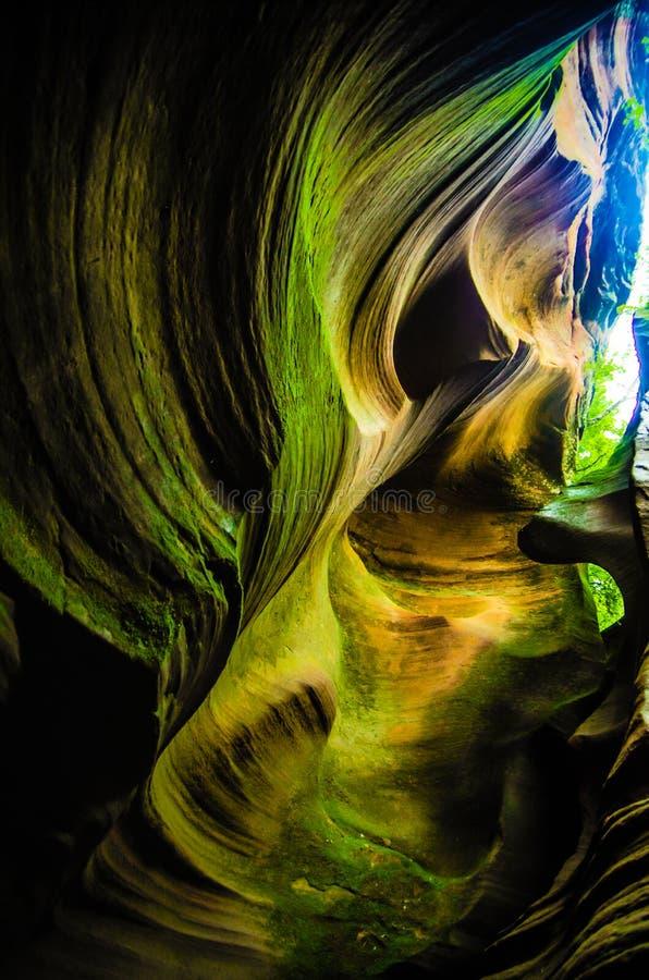 Каньон волны в провинция Китае, Шаньси стоковая фотография