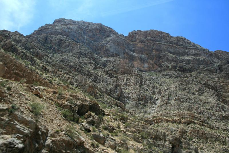 Каньон в Неваде Скалы в США стоковые изображения