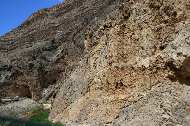 Каньон в Неваде Скалы стоковая фотография