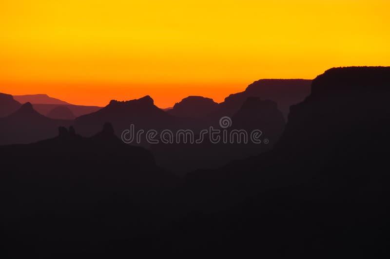 каньон грандиозный обозревает заход солнца стоковые изображения