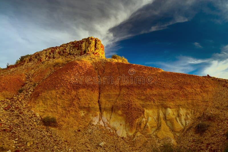 Каньон на заходе солнца стоковая фотография rf