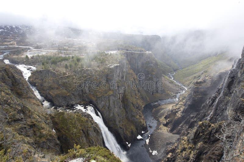 каньон Норвегия стоковая фотография rf