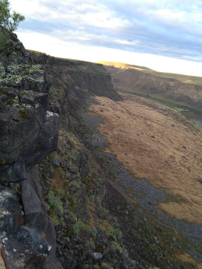 Каньон падений лебедя стоковое изображение rf