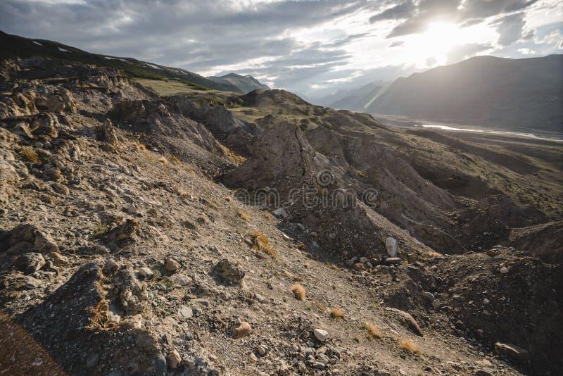 Каньон после массивнейшего землетрясения стоковые изображения rf