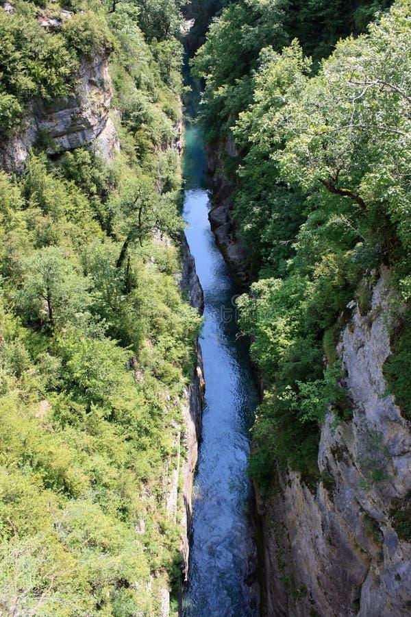 Каньон реки в национальном парке Ordesa стоковое изображение rf