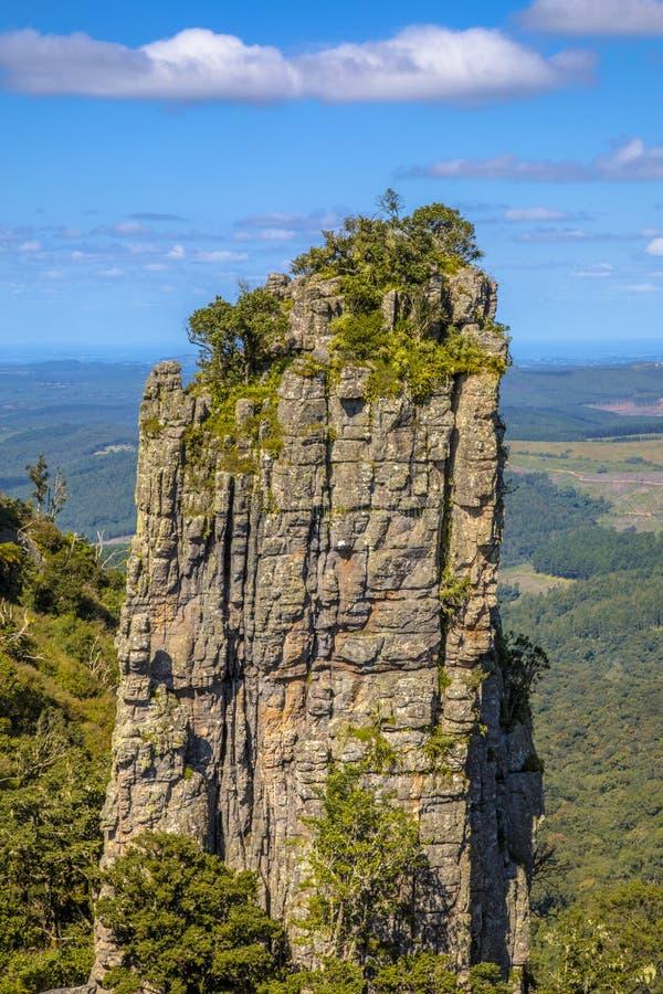 Каньон реки Blyde утеса башенкы стоковая фотография rf
