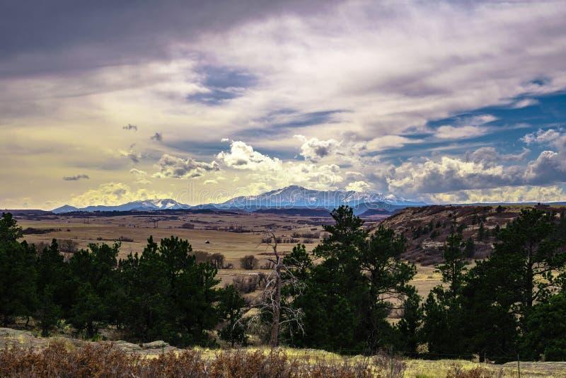 Каньон Castlewood в Колорадо стоковая фотография
