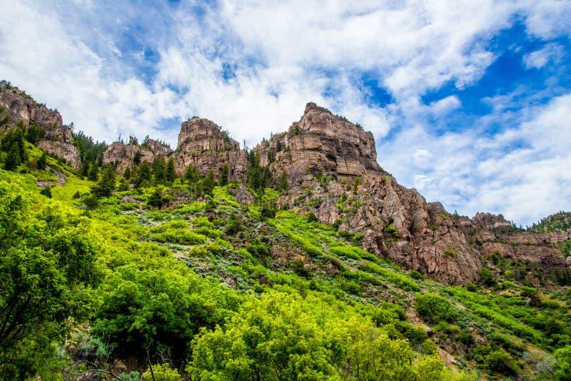 Каньон Glenwood в Колорадо стоковые изображения rf