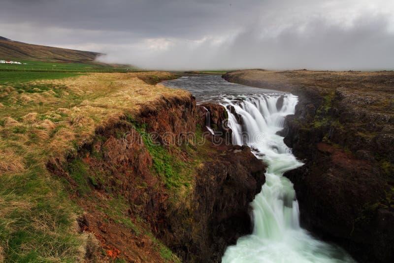 Каньон Kolugil - Исландия стоковые фотографии rf