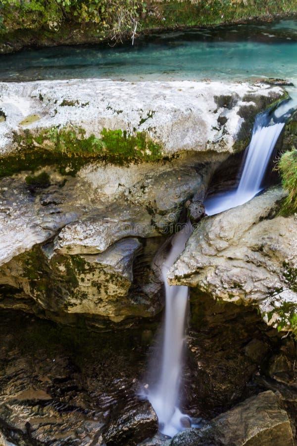 Каньон Martvil, Georgia, Kutaisi Река, озера, водопады стоковые фотографии rf