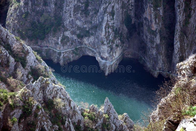 Каньон Matka, македония стоковая фотография