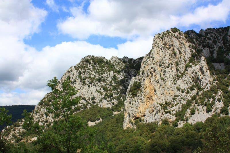 Каньон Pierre Lys в Пиренеи, Франции стоковое фото