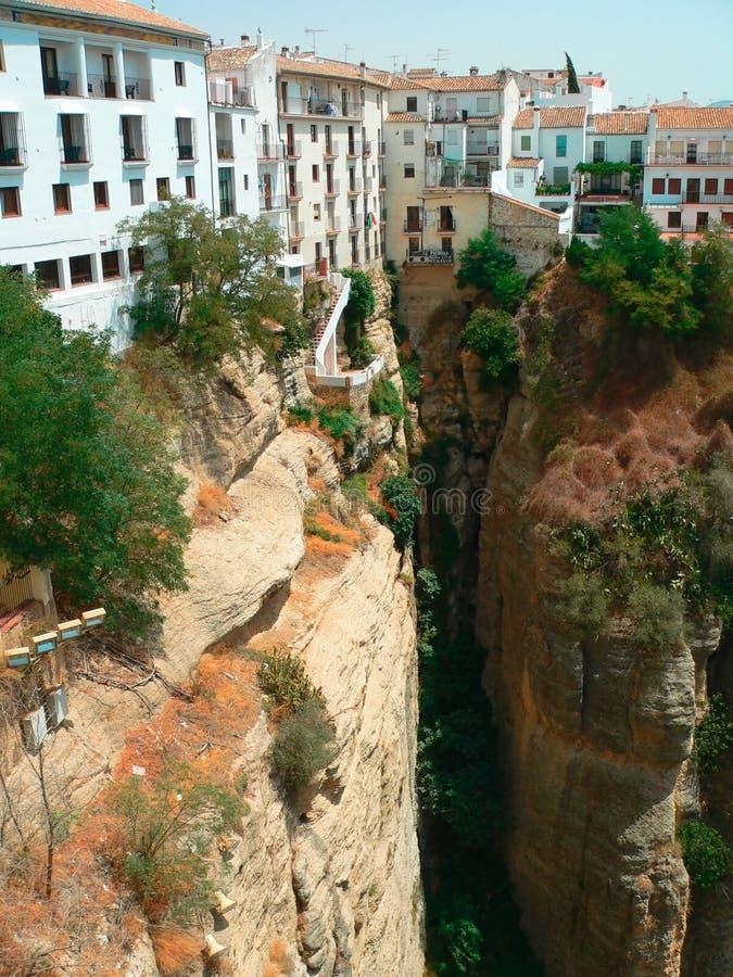 каньон ronda Испания andalousia стоковые фотографии rf