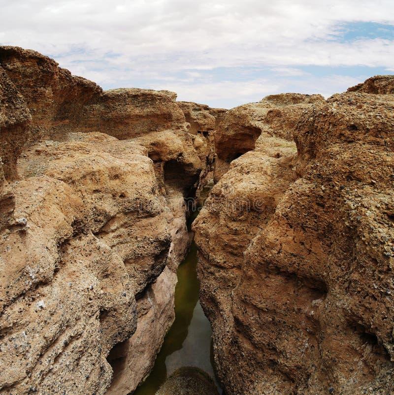 Каньон Sesriem реки Tsauchab стоковые изображения rf