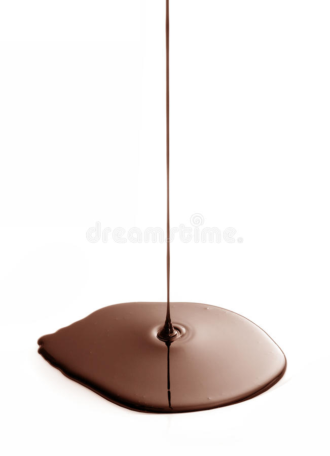 капание шоколада стоковые фото