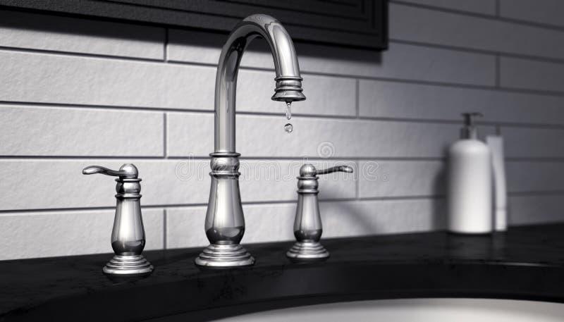 Капая отработанная вода стопа крана бесплатная иллюстрация