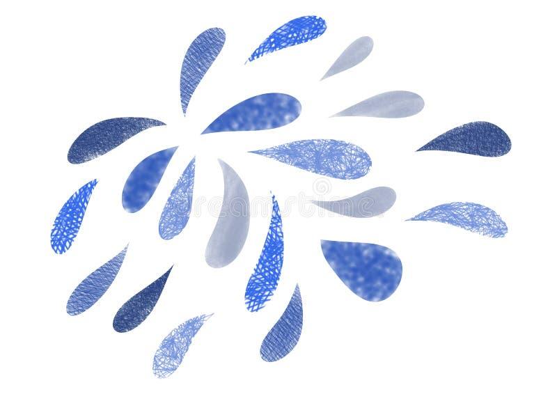 капельки воды различных форм и размеров бесплатная иллюстрация