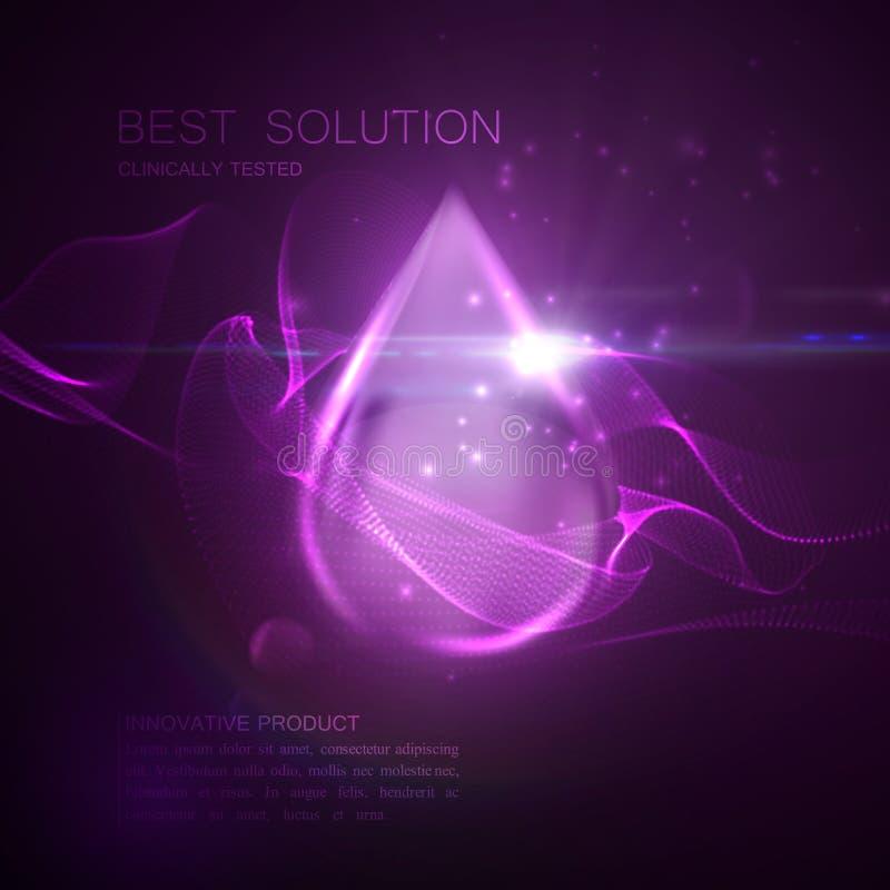 Капелька пурпура сути масла иллюстрация штока