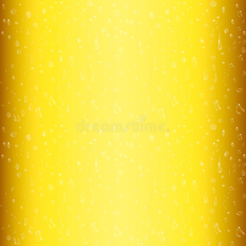 Капельки на свеже политом пиве вектор иллюстрации 3d иллюстрация вектора