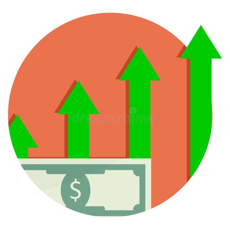Капитализация финансовый рост Прописной значок иллюстрация вектора