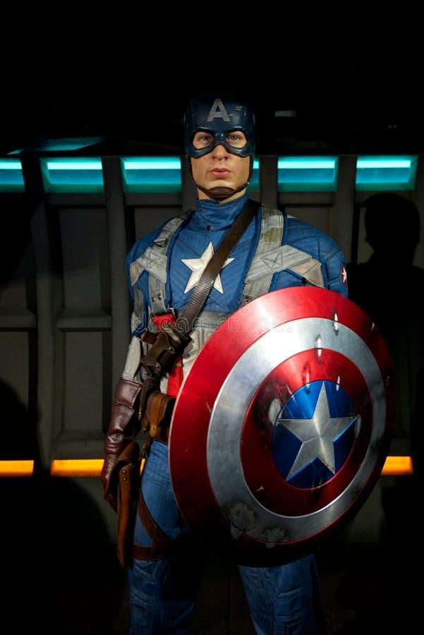 Капитан Америка на Мадам Tussauds стоковое изображение rf