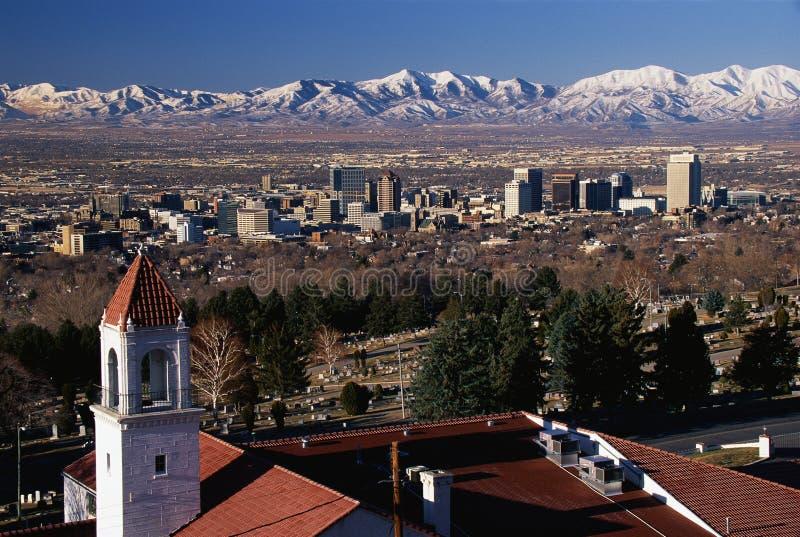 Капитолий положения в Salt Lake City, UT стоковое изображение rf