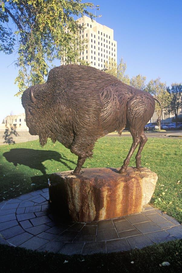 Капитолий положения Северной Дакоты, Bismarck стоковые фотографии rf
