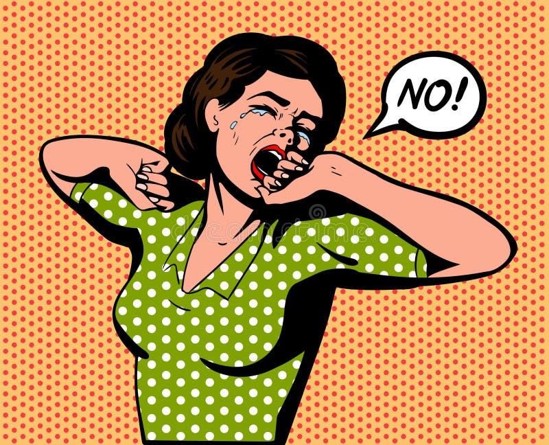 Капризная женщина говорит нет стоковые фотографии rf