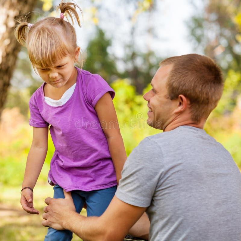 Капризная маленькая девочка стоковое изображение rf