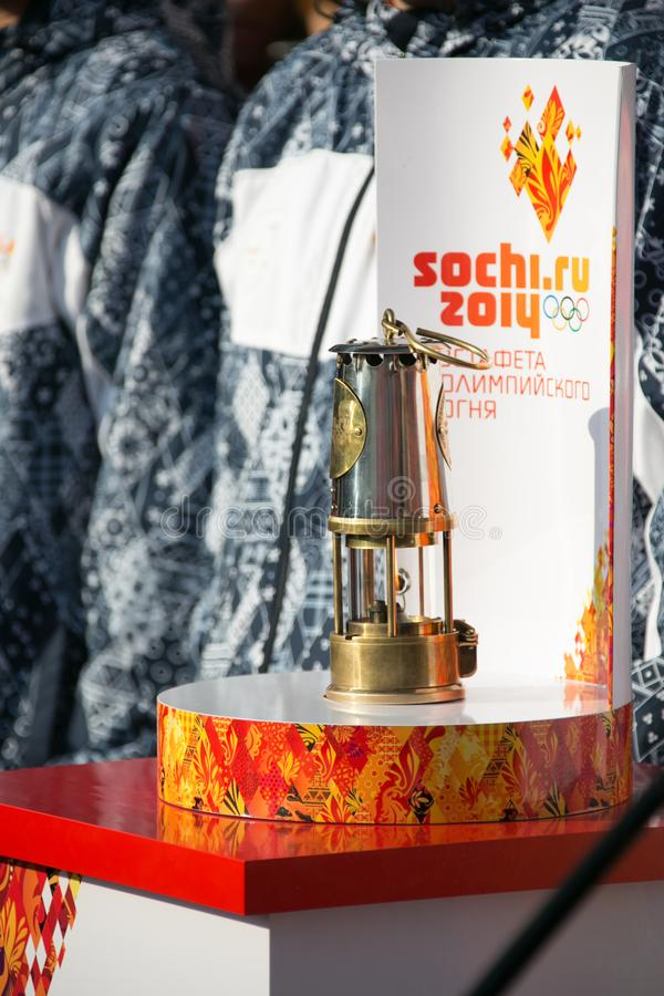 Капсула с олимпийским пламенем стоковые фотографии rf
