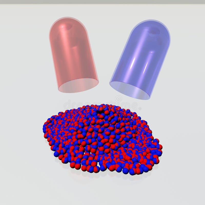 Капсула и медицина иллюстрация вектора