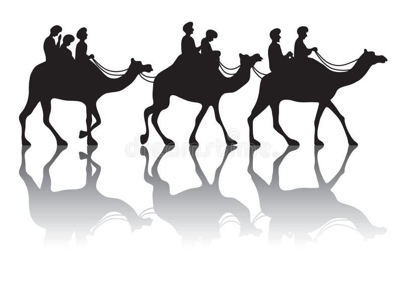 Караван верблюда s иллюстрация штока