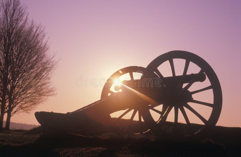 Карамболи на национальном парке на восходе солнца, кузнице войны за независимость в США долины, PA стоковые изображения rf