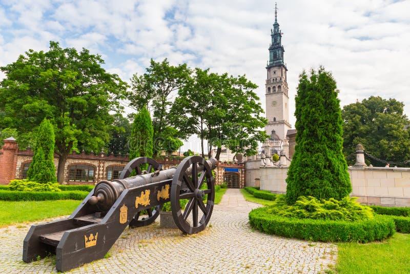 Карамболи под монастырем Jasna Gora в Czestochowa стоковая фотография rf