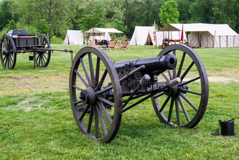 Карамболь гражданской войны на сражении Buchanan стоковое фото rf