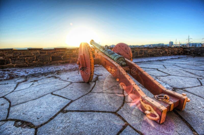 Карамболь на крепости Akershus стоковая фотография rf