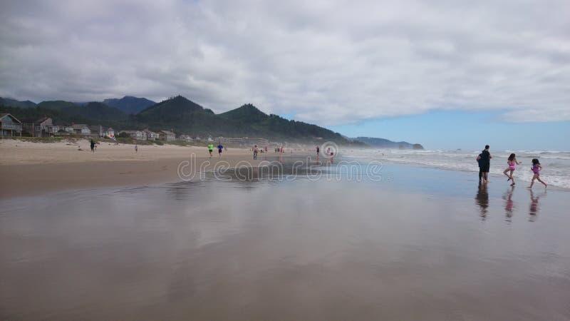 карамболь Орегон пляжа стоковое изображение rf