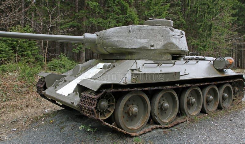 Карамболь танка с следами стоковое фото rf