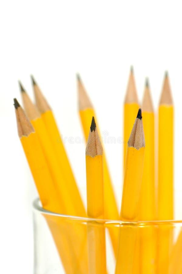 карандаши группы стоковые изображения rf